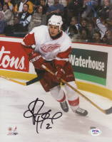 Jiri Fischer Signed Red Wings 8x10 Photo (PSA COA) at PristineAuction.com