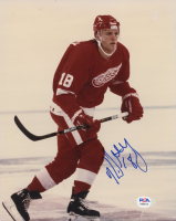 Kirk Maltby Signed Red Wings 8x10 Photo (PSA COA) at PristineAuction.com