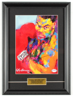 Mike Tyson Signed 12x16 Custom Framed Print Display (PSA COA) at PristineAuction.com