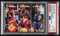 Michael Jordan / Dominique Wilkins / Karl Malone 1993-94 Hoops #283 (PSA 6) at PristineAuction.com