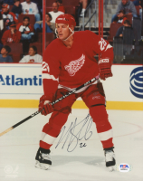 Mike Knuble Signed Red Wings 8x10 Photo (PSA COA) at PristineAuction.com