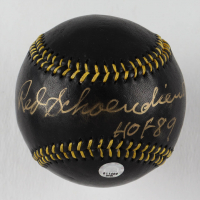"Red Schoendienst Signed Black Leather Baseball Inscribed ""HOF 89"" (MLB Hologram) at PristineAuction.com"