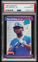 Ken Griffey Jr. 1989 Donruss #33 RR RC (PSA Authentic) at PristineAuction.com