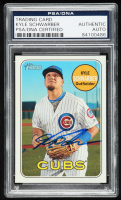 Kyle Schwarber Signed 2018 Topps Heritage #268 (PSA Encapsulated) at PristineAuction.com