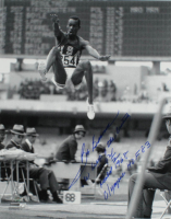"Bob Beamon Signed 11x14 Photo Inscribed ""The Leap of the Century 29 1/2 Gold 1968"" (Schulte Sports Hologram) at PristineAuction.com"