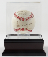 Hank Aaron & Mickey Mantle Signed ONL Baseball with Display Case (JSA ALOA) (See Description) at PristineAuction.com