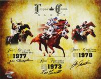 Jean Cruguet, Ron Turcotte & Steve Cauthen Signed 11x14 Photo (Schulte Sports Hologram) at PristineAuction.com
