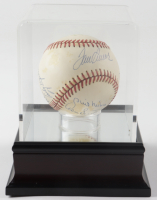 300 Wins Club LE ONL Baseball Signed by (8) with Tom Seaver, Nolan Ryan, Early Wynn, Steve Carlton, Don Sutton, Phil Niekro, Warren Spahn & Display Case (JSA ALOA) (See Description) at PristineAuction.com