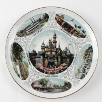Vintage Disneyland Ceramic Plate at PristineAuction.com