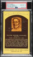 Buck Leonard Signed Gold Hall of Fame Plaque Postcard (PSA Encapsulated) at PristineAuction.com