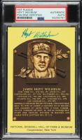 Hoyt Wilhelm Signed Gold Hall of Fame Plaque Postcard (PSA Encapsulated) at PristineAuction.com