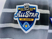 "Jordan Binnington Signed Blues LE Adidas Jersey Inscribed ""1st NHL ASG 1/25/20"" (Fanatics Hologram) at PristineAuction.com"