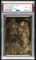 Tom Brady 2005 Merrick Mint 23kt Gold Card (PSA 8) at PristineAuction.com