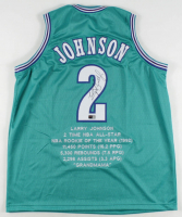 Larry Johnson Signed Career Highlight Stat Jersey (TriStar Hologram) at PristineAuction.com