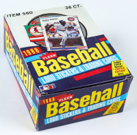 1988 Fleer Baseball Wax Box with (36) Packs at PristineAuction.com