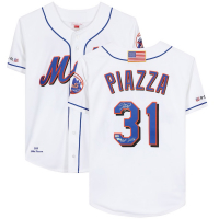 "Mike Piazza Signed Mets Mitchell & Ness Jersey Inscribed ""HOF 2016"" (Fanatics Hologram) at PristineAuction.com"