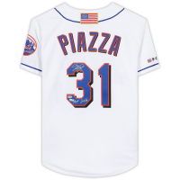 """Mike Piazza Signed Mets Mitchell & Ness Jersey Inscribed """"HOF 2016"""" (Fanatics Hologram) at PristineAuction.com"""