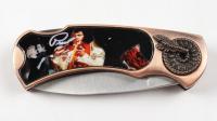 Elvis Presley Commemorative Pocket Knife withMedallion at PristineAuction.com