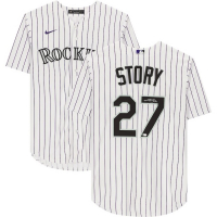 Trevor Story Signed Rockies Jersey (Fanatics Hologram) at PristineAuction.com