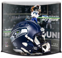 DK Metcalf Signed LE Seahawks Full-Size Authentic On-Field Speed Helmet with Custom Curve Display (Fanatics Hologram) at PristineAuction.com