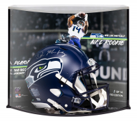 DK Metcalf Signed Seahawks Full-Size Authentic On-Field Speed Helmet with LE Custom Curve Display (Fanatics Hologram) at PristineAuction.com