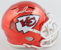 Patrick Mahomes Signed Chiefs Chrome Speed Mini Helmet (Fanatics Hologram) at PristineAuction.com