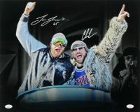 Lane Johnson & Chris Long Signed Eagles 16x20 Photo (JSA COA) at PristineAuction.com