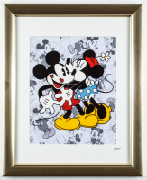 "Walt Disney's LE ""Mickey & Minnie Mouse"" 13x16 Custom Framed Hand-Painted Animation Cel Display at PristineAuction.com"