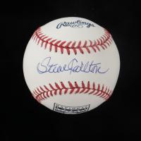 Steve Carlton Signed OML Hall of Fame Logo Baseball (JSA COA) at PristineAuction.com