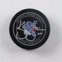 Kevin Shattenkirk Signed Rangers Logo Hockey Puck (JSA COA) at PristineAuction.com