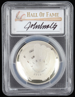 2014-P Baseball HOF Commemorative Silver Dollar - John Smoltz Signed Label (PCGS PR70 Deep Cameo) at PristineAuction.com