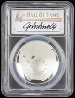 2014-P Baseball HOF Commemorative Silver Dollar - John Smoltz Signed Label (PCGS PR70 Deep Cameo) at PristineAuction.com