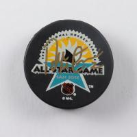 Al MacInnis Signed 1997 All-Star Game Logo Hockey Puck (JSA COA) at PristineAuction.com