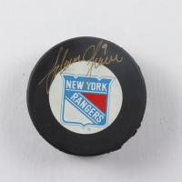 Adam Graves Signed Rangers Logo Hockey Puck (JSA Hologram) at PristineAuction.com
