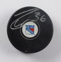 Mats Zuccarello Signed Rangers Logo Hockey Puck (JSA COA) at PristineAuction.com