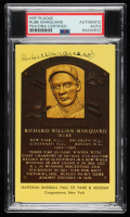 Rube Marquard Signed Gold Hall of Fame Plaque Postcard (PSA Encapsulated) at PristineAuction.com