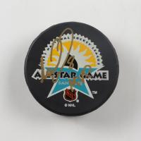 "Mark Recchi Signed 1997 All-Star Game Logo Hockey Puck Inscribed ""MVP"" (JSA COA) at PristineAuction.com"
