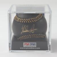 Nolan Ryan Signed OML Black Leather Baseball WIth Display Case (PSA COA) at PristineAuction.com