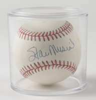 Stan Musial Signed OML Baseball with Display Case (JSA COA) (See Description) at PristineAuction.com