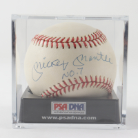 "Mickey Mantle Signed OAL Baseball Inscribed ""No. 7"" With Display Case (PSA LOA) at PristineAuction.com"