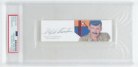 Dolphin D. Overton Signed 2x5 Cut (PSA Encapsulated) at PristineAuction.com