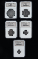 Set of (5) 1783 Spanish Colonial Silver Shipwreck Coins from the El Cazador (NGC Encapsulated) at PristineAuction.com
