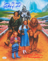 """Mickey Carroll, Jerry Maren & Karl Slover Signed """"The Wizard of Oz"""" 11x14 Photo Inscribed """"Lollipop Kid"""", """"Munchkin"""" & """"1st Trumpeter"""" (JSA COA) at PristineAuction.com"""