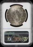 Mint Error - 1922 Peace Silver Dollar, Reverse Struck Thru Error - Legacy Collection (NGC AU58) at PristineAuction.com
