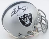 Bo Jackson Signed Raiders Throwback Mini-Helmet (JSA COA) at PristineAuction.com