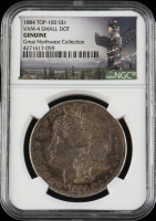 1884 Morgan Silver Dollar, VAM-4 Small Dot, Top 100 - Great Northwest Collection (NGC Encapsulated) at PristineAuction.com