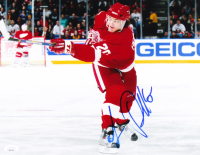 Luc Robitaille Signed Red Wings 11x14 Photo (JSA COA) at PristineAuction.com