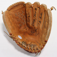 Nolan Ryan Signed Rawlings Baseball Glove with Multiple Inscriptions (PSA COA) (See Description) at PristineAuction.com