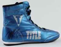 Mike Tyson Signed Title Boxing Shoe (PSA COA) at PristineAuction.com