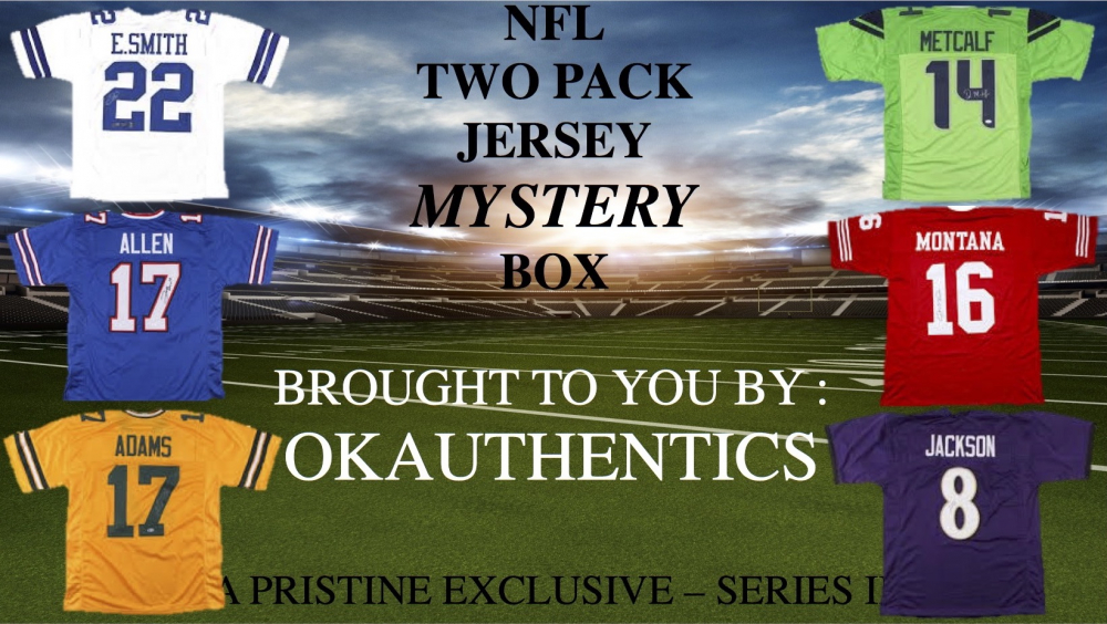 OKAUTHENTICS NFL TWO Pack Jersey Mystery Box Series II at PristineAuction.com